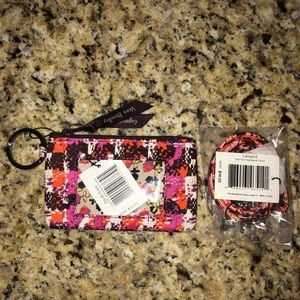 Vera Bradley Zip Id & Lanyard in Houndstooth Tweed
